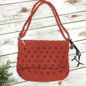 NWOT The Sak burnt orange and brown beaded purse